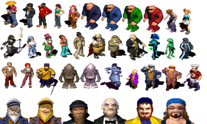 The Sims GBA and DS Sprites (Higher Quality) by TwistedDarkJustin
