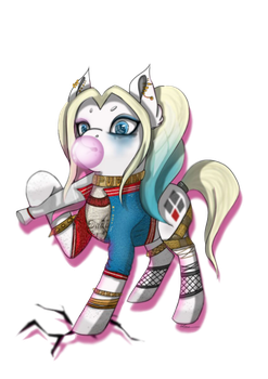 Harley quinn Mlp (paint) by AriaWolff