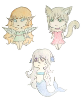 Chibi Adoptables (OPEN) by EtherealNymph