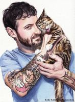 Lil BUB and Her Dude by KellyEddington