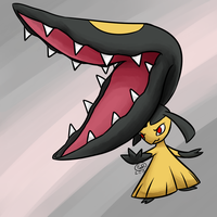 Gotta Draw Them All Gen 3: Mawile by LizDoodlez
