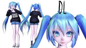 {MMD} Miku Hatsune DL by RenSamaa