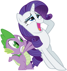 Spike and Rarity by lilac2012