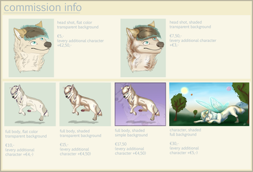 Commission Info by Lissyah