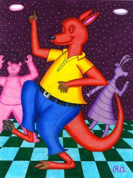 Roo Dancing at the Club by WalterRingtail