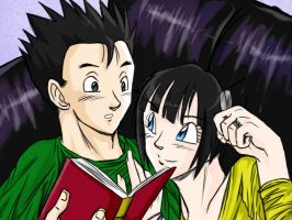 Gohan's study session by Iris-Briefs-giftart