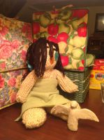 Quick picture of hand-crocheted/sewn Credenza doll by Joy-horses