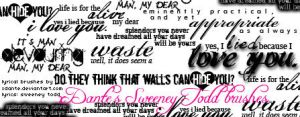 Sweeney Todd Lyrical Brushes by xDante