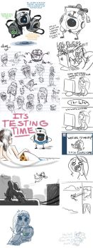 Portal tumblr doodles by mmishee