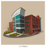 Building Illustration: Meridium by plaidklaus