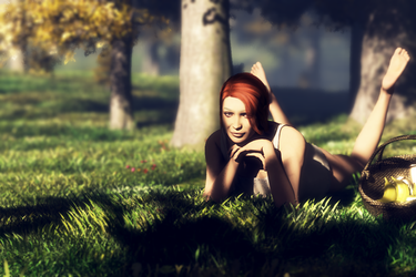 Girl-In-the-woods by AfterDeath