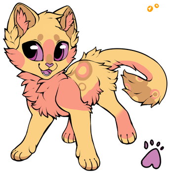 [ADOPT] Strawberry Cheesecake Kitten~! ((CLOSED)) by ThatCreativeCat