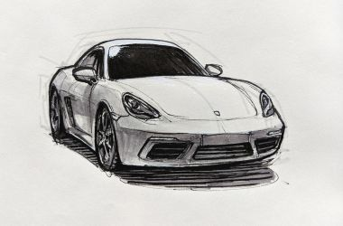 Porsche 718 Cayman front view by Hunternif