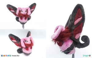 Fakemon plush by DemodexPlush
