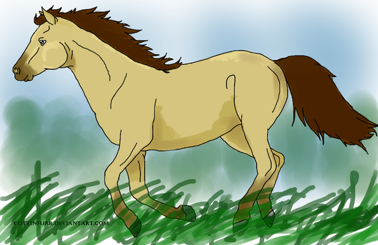 colored horse by penman by the-penmans-mind