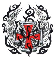 Red Iron Cross by ppunker