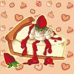 Pixel Art: Let's Get some Strawberry Cheesecake! by Chocolate-Domino