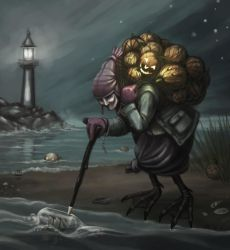 A Sea Witch Gathering Lanterns by nilwill