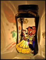 Beauty and the Beast Candle Jar by Bonniemarie