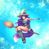 Flight of the Witch. by Sukesha-Ray