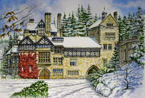 Cragside in the Snow by jeffsmith1955