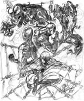 Spidey Collage WIP by CdubbArt