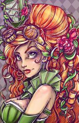 Steampunk Ivy Portrait by NoFlutter