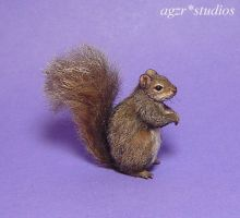 Ooak 1:12 Grey Squirrel handmade furred by AGZR-STUDIOS