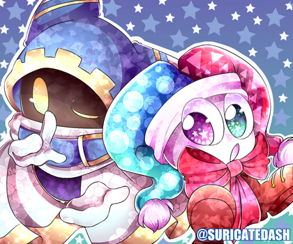 Magolor and Marx | DRAWN USING A MOUSE by SuricateDash