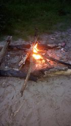 Small campfire by lycantropos-stitch