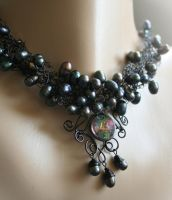 Night of Peacock - necklace by Bodza