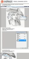 Tutorial: how to edit pencil drawings by sionra