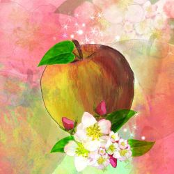 Square Apple Background by GlynJA