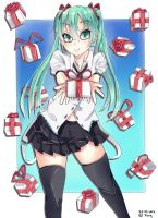 Present for you from Miku by Xunq