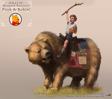What if: Mounted warriors 1 - Pooh and Robin by JordyLakiere