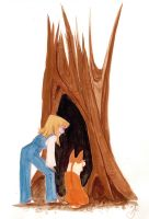 Lyn and Loui hollow tree by captainhawkeh
