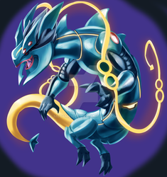 AURELION SOL FUSION WITH RAYQUAZA by Meg4mente