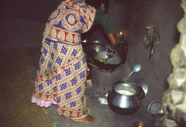 In a rural Indian kitchen by coshipi
