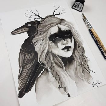 Inktober day 1 by CristinaGaftonArt