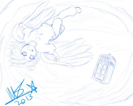 Derpy  The Seedrian and the Tardis .:Commission:. by SerafinaTheHedgehog