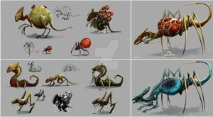 Aliens concepts by SeverineDumagny
