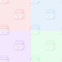 pastel milk tile by noragumies