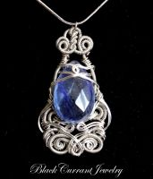 Blue Water Drop by blackcurrantjewelry