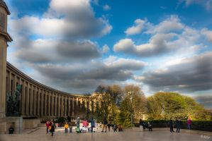 Paris the city of lights - cloudy Chaillot by Rikitza