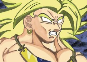 Broly coloured by TheMagicUnderpants