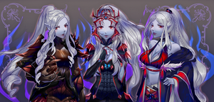 Commission The Drow Sisters by SarahWidiyanti