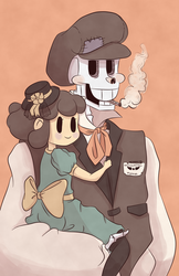 Pap and chara by Alamort-Blatherskite