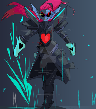 Undyne the Undying fanart by KAWAiiSOLDiER667