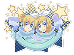 Vocaloid - Rin and Len by XAngelFeatherX