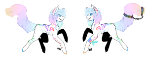 Pastel Tailmouth+closed+ by Vaniaak